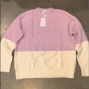 Lovers + Friends brand new cable sweater